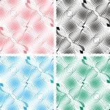 无缝的白色抽象样式。在四种颜色的背景。 免版税库存图片