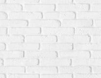 无缝的白色砖墙纹理 免版税图库摄影