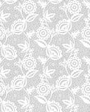 无缝的白色花卉鞋带样式 免版税库存照片