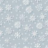 无缝的白色雪花 免版税图库摄影