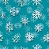 无缝的白色雪花 图库摄影