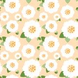 无缝的白花样式 免版税图库摄影