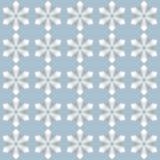 无缝的白花雪剥落形状艺术样式背景 皇族释放例证