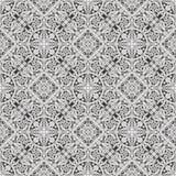 无缝的盖瓦花卉墙纸样式 库存图片