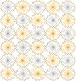 无缝的相称背景 圈子,三角,菱形,淡色,黄色蓝色 免版税库存图片