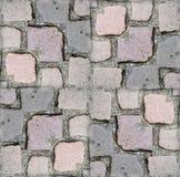 无缝的石地面纹理背景 免版税库存图片