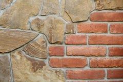 无缝的石头和砖墙 库存图片