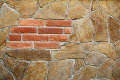 无缝的石头和砖墙 免版税库存图片