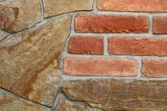 无缝的石头和砖墙 免版税图库摄影