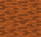 无缝的砖墙背景 免版税库存照片