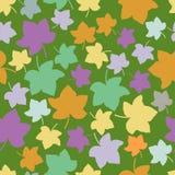 无缝的秋叶传染媒介样式 免版税库存图片