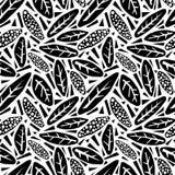 无缝的秋叶样式,在拼贴画的时髦印刷品删去了, 免版税图库摄影