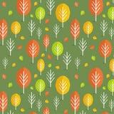 无缝的秋天样式 免版税图库摄影