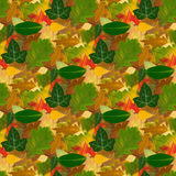 无缝的秋天纹理背景 免版税库存图片