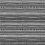 无缝的种族和部族样式 手工制造 水平的条纹 库存照片