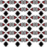 无缝的种族样式传染媒介传统部族几何装饰品染黑红色和白色背景设计减速火箭的葡萄酒捷克人 免版税库存照片