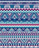 无缝的种族样式纹理 抽象那瓦伙族人几何印刷品 桃红色和蓝色颜色 免版税图库摄影
