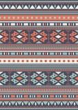 无缝的种族样式纹理 抽象那瓦伙族人几何印刷品 灰色和橙色颜色 库存图片