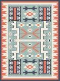 无缝的种族样式纹理 抽象那瓦伙族人几何印刷品 灰色和橙色颜色 库存照片