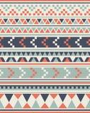 无缝的种族样式纹理 抽象那瓦伙族人几何印刷品 灰色和橙色颜色 免版税库存图片