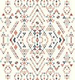 无缝的种族样式纹理 抽象那瓦伙族人几何印刷品 灰色和橙色颜色 皇族释放例证