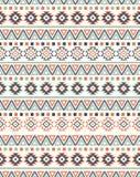 无缝的种族样式纹理 抽象那瓦伙族人几何印刷品 灰色和橙色颜色 免版税库存照片