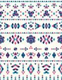 无缝的种族样式纹理 桃红色和蓝色颜色 免版税库存照片