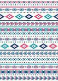 无缝的种族样式纹理 桃红色和蓝色颜色 图库摄影