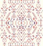 无缝的种族样式纹理 橙色&紫色颜色 免版税图库摄影