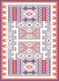 无缝的种族样式纹理 橙色&紫色颜色 免版税库存照片
