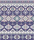 无缝的种族样式纹理 紫色&黄色颜色 那瓦伙族人几何印刷品 免版税库存照片