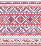 无缝的种族样式纹理 Orange&Purple颜色 图库摄影