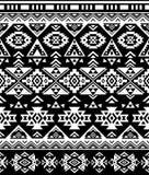 无缝的种族样式设计 那瓦伙族人几何印刷品 土气装饰装饰品 抽象几何模式 免版税库存图片