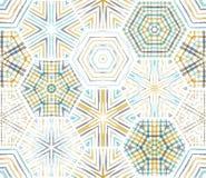 无缝的种族纺织品六角形样式 皇族释放例证