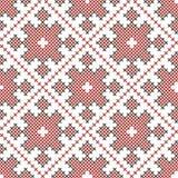 无缝的种族被绣的样式 库存例证