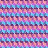 无缝的立方体平的颜色背景 免版税库存图片