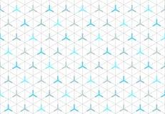 无缝的等量六角形形状2的样式 免版税库存图片