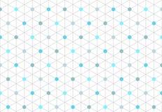 无缝的等量六角形形状1的样式 免版税库存图片