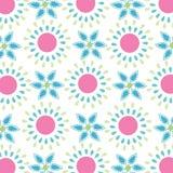 无缝的简单的春天花纹花样 库存图片