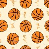 无缝的篮球 库存图片