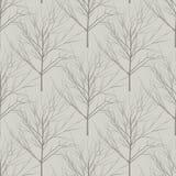 无缝的米黄赤裸树样式 向量例证