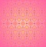 无缝的精美装饰品桃红色黄色紫罗兰 库存图片