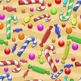 无缝的糖果传染媒介背景 免版税库存照片