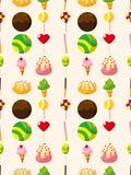 无缝的糖果模式 库存图片