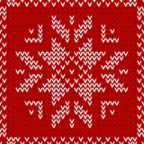 无缝的红色和白色被编织的背景 免版税库存照片