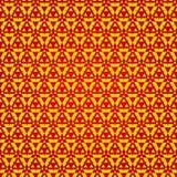 无缝的红色和黄色三角 样式设计 库存图片