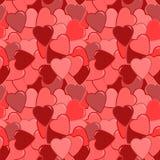 无缝的红色心脏样式 免版税图库摄影
