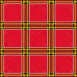 无缝的红色方格的样式 库存图片