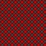 无缝的红色方格的织品传染媒介样式/背景 免版税库存照片