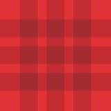 无缝的红色格子花呢披肩模式 免版税库存照片